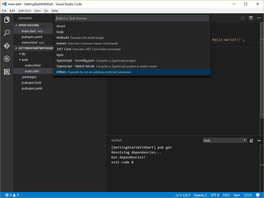 Configure Task Runner